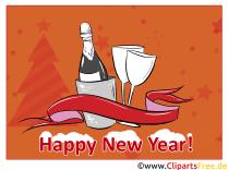 Ecard新年快乐免费通过电子邮件发送