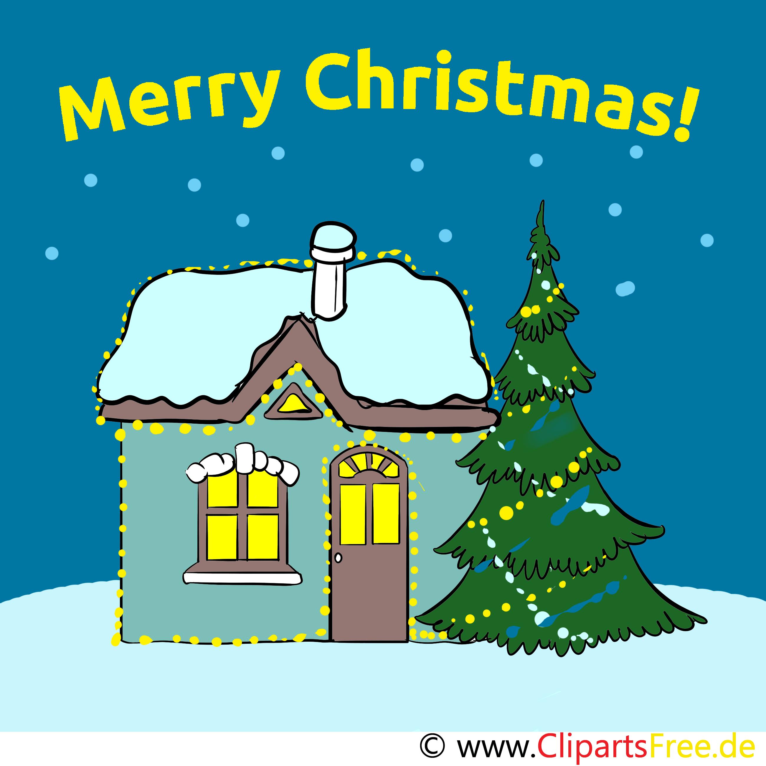 Grußkarte zu Weihnachten - kostenlose Weihnachtskarten - Merry ...